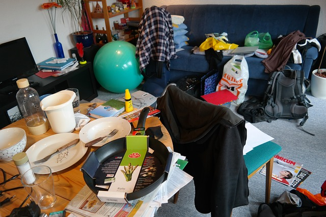 cluttered room in an Okmulgee home